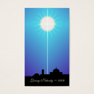 Bethlehem Living Nativity Card ~ 2009