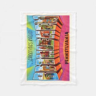 Bethlehem Pennsylvania PA Vintage Travel Souvenir Fleece Blanket