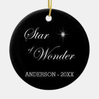 Bethlehem Star of Wonder Black Gothic Ceramic Ornament