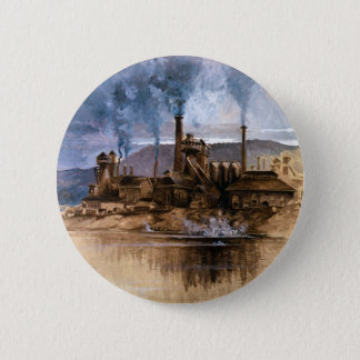 Bethlehem Steel Works by Joseph Pennell 2 Inch Round Button