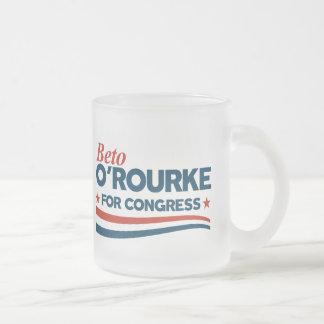 Beto O'Rourke Frosted Glass Coffee Mug
