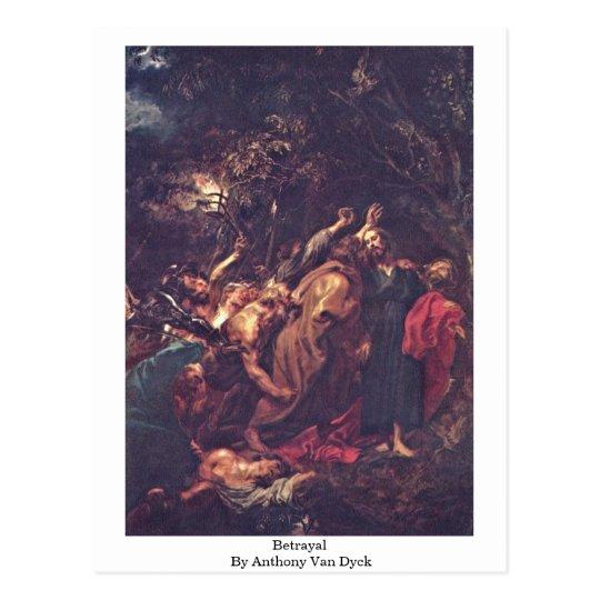Betrayal By Anthony Van Dyck Postcard