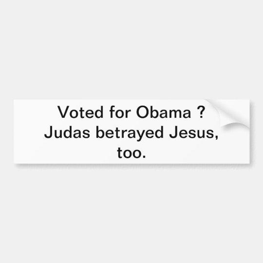 Betrayal of a Liberal Bumper Sticker