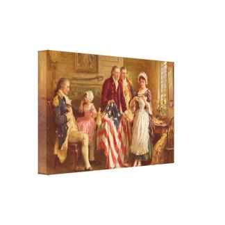 Betsy Ross 1777 par la toile de Jean Léon Gerome F Toiles Tendues