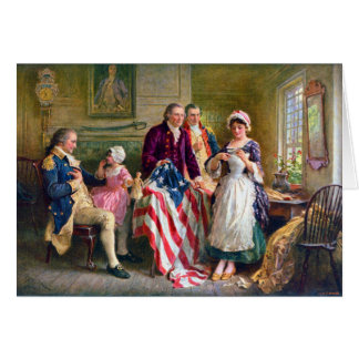 Betsy Ross and the Stars and Stripes 1777 Card