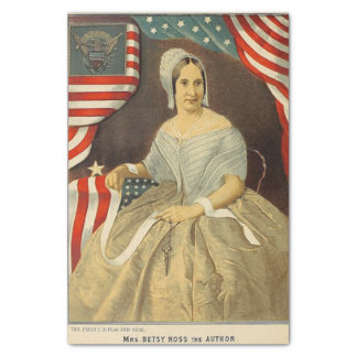 Betsy Ross First American Flag and Seal Vintage US Tissue Paper