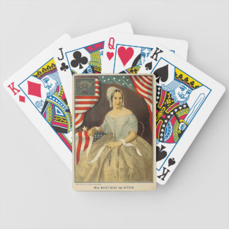 Betsy Ross First American Flag Vintage Portrait US Bicycle Playing Cards