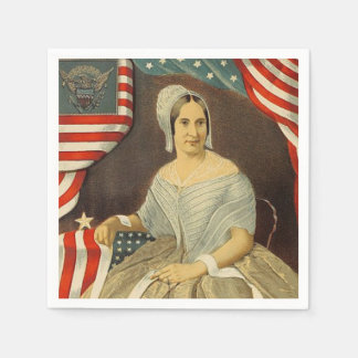 Betsy Ross First American Flag Vintage Portrait US Disposable Napkins