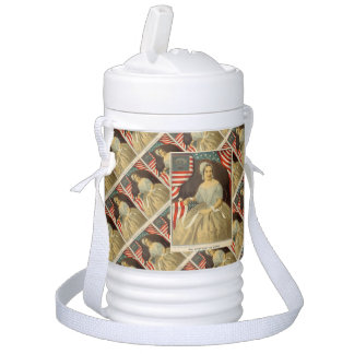 Betsy Ross First American Flag Vintage Portrait US Drinks Cooler