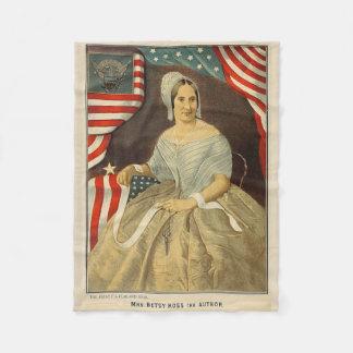 Betsy Ross First American Flag Vintage Portrait US Fleece Blanket