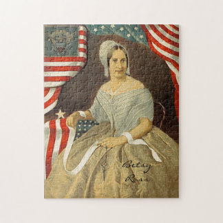 Betsy Ross First American Flag Vintage Portrait US Jigsaw Puzzle