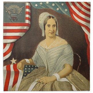 Betsy Ross First American Flag Vintage Portrait US Napkin