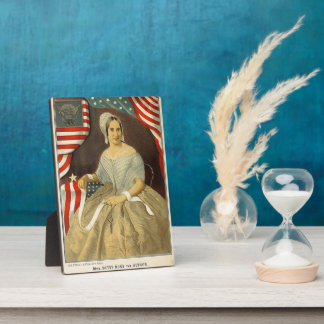 Betsy Ross First American Flag Vintage Portrait US Plaque