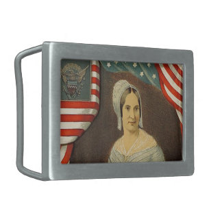Betsy Ross First American Flag Vintage Portrait US Rectangular Belt Buckles