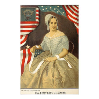 Betsy Ross First American Flag Vintage Portrait US Stationery