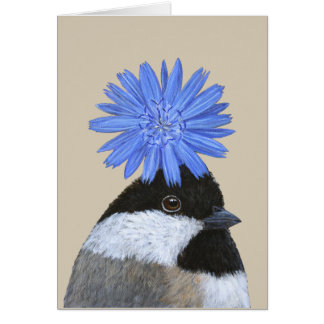 Betsy the chickadee card