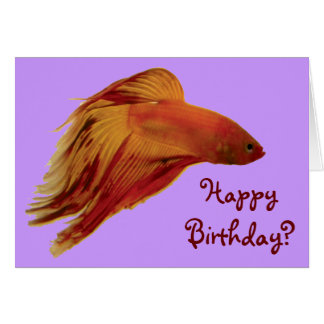 Betta - Birthday Card