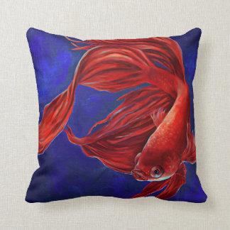 Betta Fish Painting Pillow