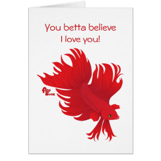 Betta Fish Valentine's Day Card