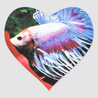 Betta Heart Sticker