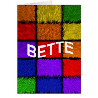 BETTE CARD