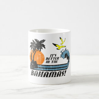 Better in Bahamas Faded Coffee Mug