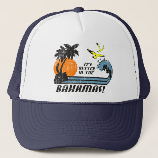 Better in Bahamas Faded Trucker Hat