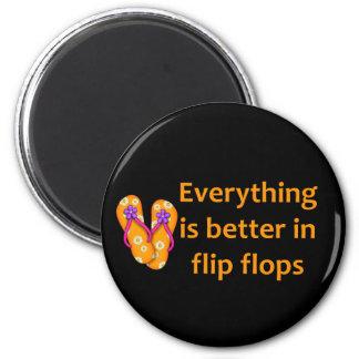 Better in Flip Flops Magnet