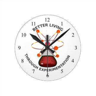 Better Living Through Experimentation Wall Clocks