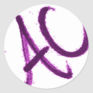 BETTER THAN A C.its an ac. Classic Round Sticker