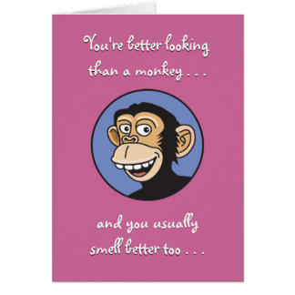 Better Than a Monkey Birthday Card