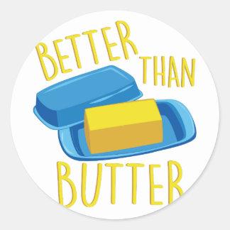 Better Than Butter Round Sticker
