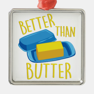 Better Than Butter Silver-Colored Square Ornament