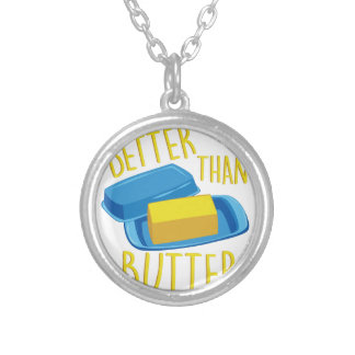 Better Than Butter Silver Plated Necklace