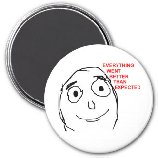 Better Than Expected Rage Face Meme 3 Inch Round Magnet