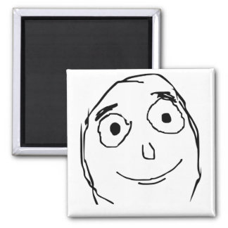 Better Than Expected Rage Face Meme Refrigerator Magnets