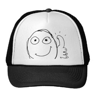 better than expected thumbs up trucker hat