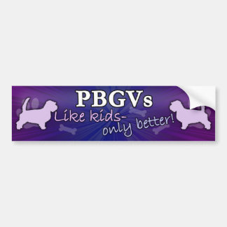 Better than Kids PBGV Bumper Sticker