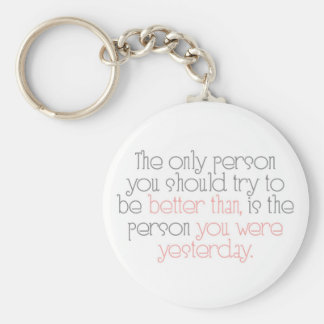 Better Than You Were Yesterday Keychain