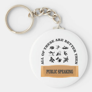 better then public speaking basic round button keychain