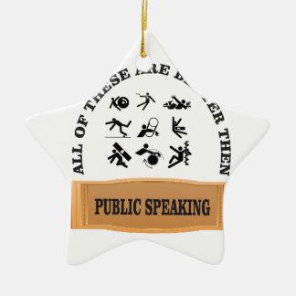 better then public speaking ceramic star ornament