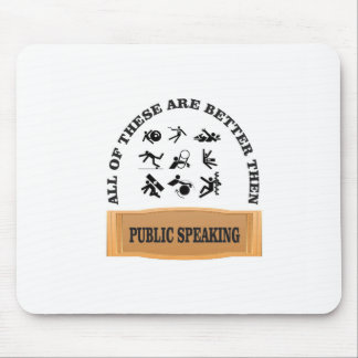 better then public speaking mouse pad