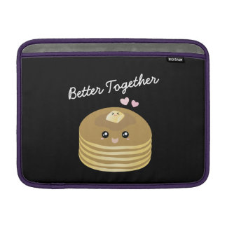 Better Together Cute Butter Pancakes Funny Foodie Sleeve For MacBook Air