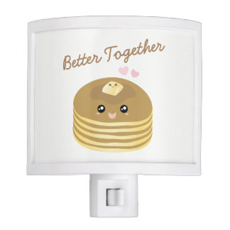 Better Together Cute Pancakes Butter Funny Foodie Night Lites