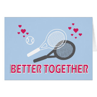 Better Together Greeting Card in blue