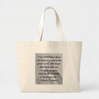 Better Trust - Ulysses S Grant Large Tote Bag