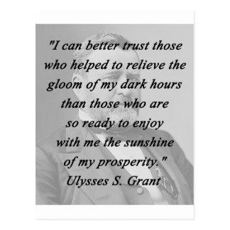 Better Trust - Ulysses S Grant Postcard