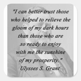 Better Trust - Ulysses S Grant Square Sticker