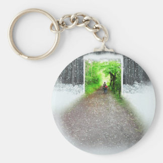 Better weather basic round button keychain