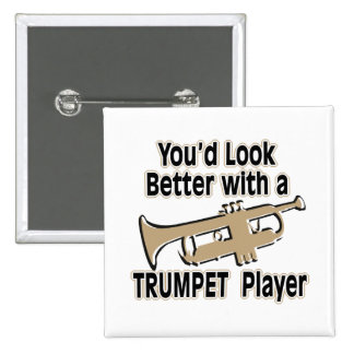 Better with a Trumpet Player 2 Inch Square Button
